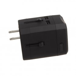 Adaptor priza universal Serioux, 2.5.A, 2 porturi USB, Black