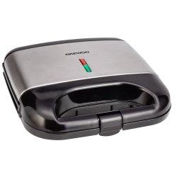 Aparat de facut vafe Daewoo DWM20X, 800 W, placi neaderente, termostat, clapeta de blocare, Inox