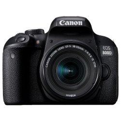 Aparat foto DSLR Canon EOS 800D, 24.2MP, Wi-Fi, Negru + Obiectiv EF-S 18-55mm f/4-5.6 IS STM