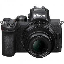Aparat foto Mirrorless Nikon Z50, 20.9 MP , 4K , Wi-Fi + Obiectiv 16-50mm, Negru