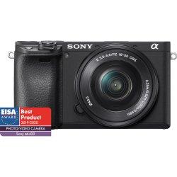 Aparat foto Mirrorless Sony Alpha A6400 LB, 24.2 MP, APS-C, E-mount, 4K HDR, 4D Focus, Time-lapse, ISO 100-32000, Negru + Obiectiv SELP1650 16-50 mm