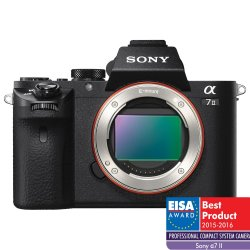 Aparat foto Mirrorless Sony Alpha A7II Body, 24.3 MP, Full-Frame, Wi-Fi, NFC, E-Mount, ISO 50–25600, Negru