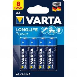 Baterii Alcaline VARTA High Energy AA, 8 buc