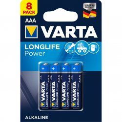 Baterii Alcaline VARTA High Energy AAA, 8 buc