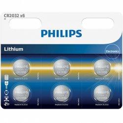 Baterii Philips CR2032 Lithium 3.0V, 6 buc