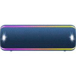 Boxa portabila Sony SRS-XB32L, Extra Bass, LIVE SOUND, Fiestable, Wireless Party Chain, Party Booster, Efect de lumini, Rezistenta la apa IP67, Bluetooth 4.2, NFC, Autonomie 24 ore, USB cu functie de incarcare, Albastru