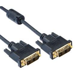 Cablu A+ DVI-DVI, 1.8m, Negru