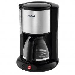 Cafetiera Tefal EquInox CM360830, capacitate 1.25L, suport filtru, sistem antipicurare, indicator nivel apa, Negru