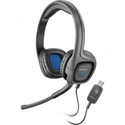 Casti cu microfon Plantronics Audio 655, butoane pe casca, USB, Negru