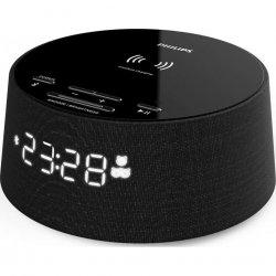 Ceas cu alarma, PHILIPS TAPR702/12, Bluetooth, incarcare wireless, USB, negru