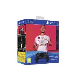 Controller Sony PlayStation DualShock 4 v2, Negru + Joc FIFA 20 pentru PlayStation 4