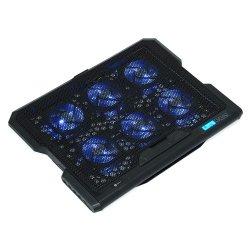 """Cooler laptop A+ CIC6B, 17"""", USB, 6 ventilatoare, negru"""