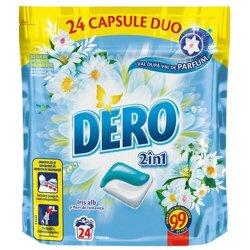 Detergent capsule duo Dero, Iris Alb, 24 spalari
