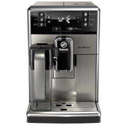 Espressor automat Saeco PicoBaristo SM5473/10, 10 bauturi, Carafa pentru lapte integrata 0.5 L, filtru AquaClean, Inox/Negru