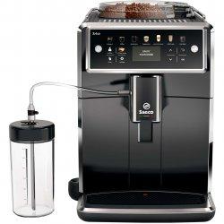 Espressor automat Saeco Xelsis SM7580/00, Sistem Latteduo, 12 selectii, 5 setari intensitate, Rasnita ceramica cu 12 trepte, AquaClean, Afisaj LCD, Negru