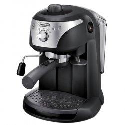 Espressor manual De`Longhi EC221.B, Dispozitiv spumare, Sistem cappuccino, 15 Bar, 1 l, Oprire automata, Negru/Gri