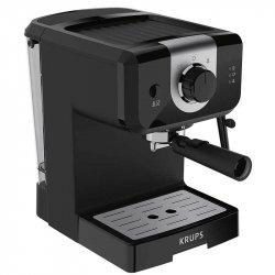 Espressor manual Krups XP320830, 1050 W, 15 bar, 1.5 L, Dispozitiv spumare, Negru