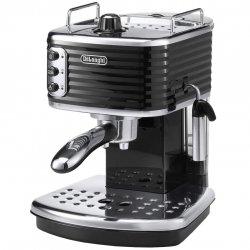 Espressor manual premium De`Longhi Scultura ECZ351.BK, 1100 W, 1.4 l, 15 bari, Sistem Cappucino, Negru