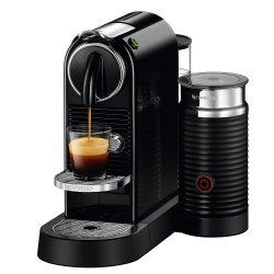 Espressor Nespresso CitiZ & Milk Black D122-EU-BK-NE, 19 bari, 1710 W, 1 l, Negru + 14 capsule cadou