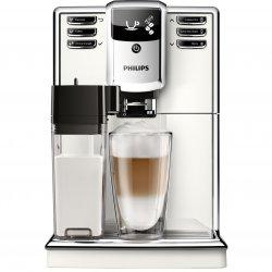 Espressor super-automat Philips EP5361/10 Seria 5000, 15 bar, 1.8 L, Sistem AquaClean, Tehnologie CoffeeSwitch, Carafa de lapte integrata, 5 setari intensitate, Optiune cafea macinata, 5 bauturi, Alb