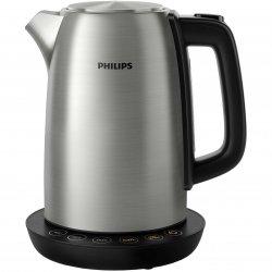 Fierbator Philips HD9359/90, 2200 W, 1.7 L, control temperatura, Negru