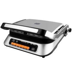 Gratar electric Star-Light DGD-2107SS, 2100W, 6 programe automate de gatit, Senzor automat pentru gatit, Inox