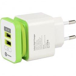 Incarcator retea A+ dual USB, 3,1A, Alb