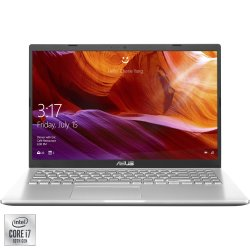 "Laptop ASUS X509JA cu procesor Intel® Core™ i7-1065G7 pana la 3.9 GHz, 15.6"", Full HD, 8GB, 1TB HDD, Intel® Iris™ Graphics 5100, Free DOS, Transparent Silver"