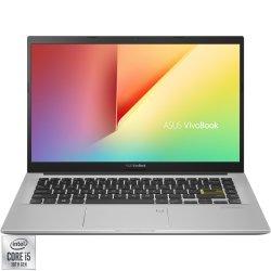 "Laptop ultraportabil ASUS VivoBook 14 X413FA cu procesor Intel® Core™ i5-10210U pana a 4.20 GHz, 14"", Full HD, 8GB, 512GB SSD, Endless OS, Intel® HD Graphics 520, Dreamy White"