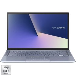 "Laptop ultraportabil ASUS ZenBook 14 UX431FL cu procesor Intel® Core™ i5-10210U pana la 4.20 GHz Comet Lake, 14"", Full HD, 8GB, 512GB SSD, NVIDIA GeForce MX250 2GB, Free DOS, Utopia Blue Metal"