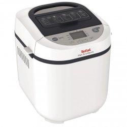 Masina de paine Tefal Pain et Tresors PF250135, 700 W, 1000 g, 3 setari, 20 programe, 28 de retete, Timer, Alb/Negru