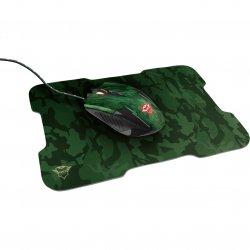 Mouse gaming + mousepad Trust GXT 781 Rixa , Verde Camo
