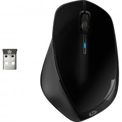Mouse wireless HP x4500, 1600dpi, Negru