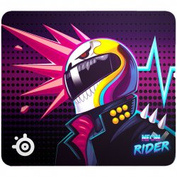 Mousepad SteelSeries QcK Large, Neon Rider Special Edition