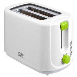 Prajitor de paine Star-Light TD-G750, 750 W, 2 felii, Grad de rumenire variabil, Functie reincalzire si dezghetare, Alb/Verde
