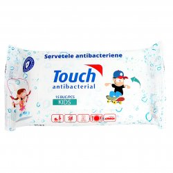 Servetele Umede Antibacteriene Touch Kids, 15 buc