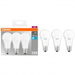 Set 3 becuri LED Osram Base Classic A100, E27, 13W (100W), 1521 lm, A+, lumina neutra (4000K)