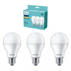 Set 3 becuri LED Philips, E27, 14W (100W), 1521 lm, A+, lumina alba calda (2700K)