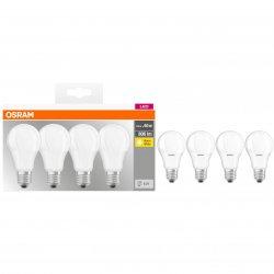 Set 4 becuri LED Osram Base Classic A60, E27, 8.5W (60W), 806 lm, A+, lumina calda (2700K)