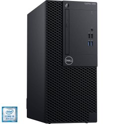 Sistem Desktop PC Dell OptiPlex 3060 MT cu procesor Intel® Core™ i5-8500 pana la 3.40 GHz, Coffee Lake, 8GB, 1TB, DVD-RW, Intel® UHD Graphics 630, Microsoft Windows 10 Pro, Black