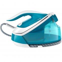 Statie de calcat Philips PerfectCare Compact Plus GC7920/20, 2400 W, OptimalTemp, abur 120 g/min, Smart Calc Clean, talpa SteamGlide, 1.5 L, Albastru