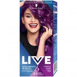 Vopsea de par semi-permanenta Schwarzkopf Live Ultra Brights 094 Purple Punk, 80 ml