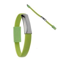 Cablu A+ lightning, tip bratara pentru iPhone, Green image