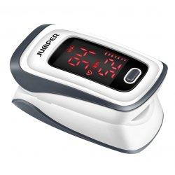 Pulsoximetru digital de deget JUMPER JPD-500E, masoara saturatia la nivelul hemoglobinei si a pulsului prin intermediul degetului, Alb image