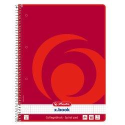 Caiet Herlitz XBook, A4, matematica, spirala, 160 file