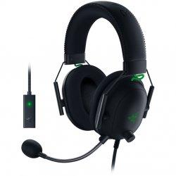 Casti gaming Razer BlackShark V2 + USB SoundCard, Multiplatforma, THX Certified, Drivere 50mm TriForce Titanium, Microfon Cardioid, Negru