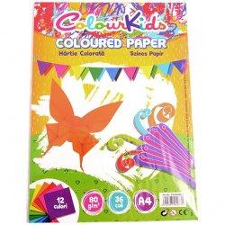 Hartie ColourKids A4 80gr 36 coli , 12 culori