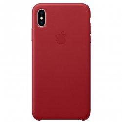 Husa de protectie Apple pentru iPhone XS Max, Piele, Red image