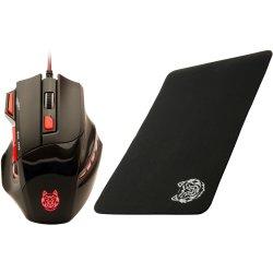 Mouse gaming A+ KuaFu 2400 DPI + Mouse Pad A+, Negru