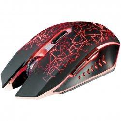 Mouse gaming wireless Trust GXT 107 Izza, Iluminare RGB, Negru